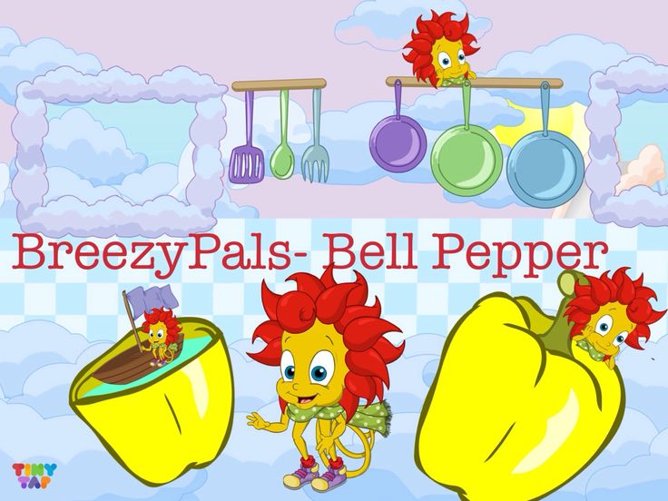 BreezyPals™ like to play & eat bell pepper. Early childhood development, Skills in children