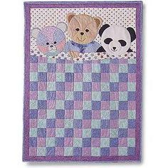 Quilt Pattern Using 3 Colors | Teddy Bears and Quilt Patterns | Quilters Showcase