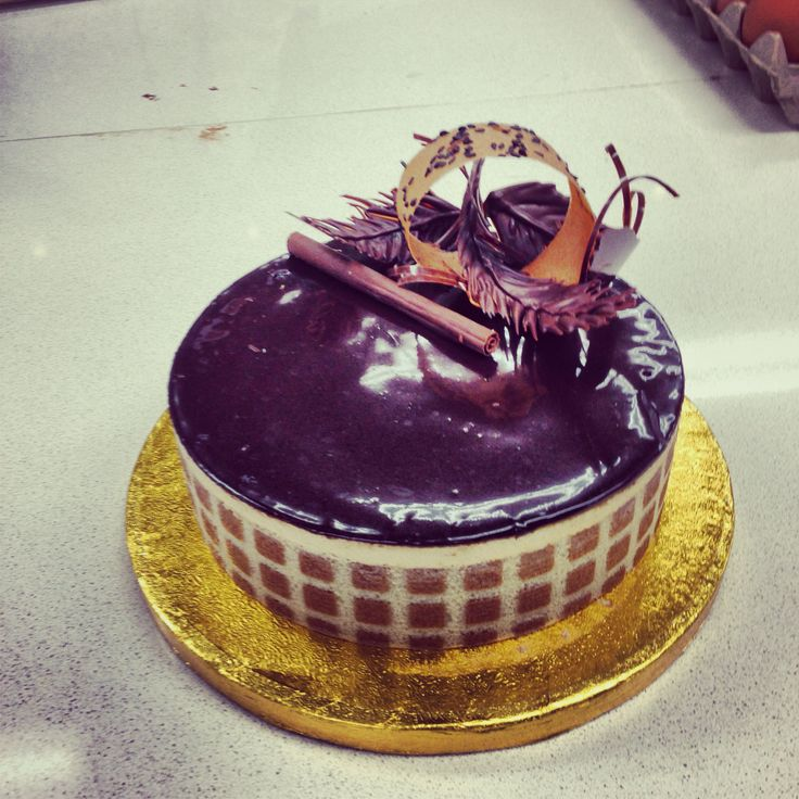 My coffee and caramel mousse cake