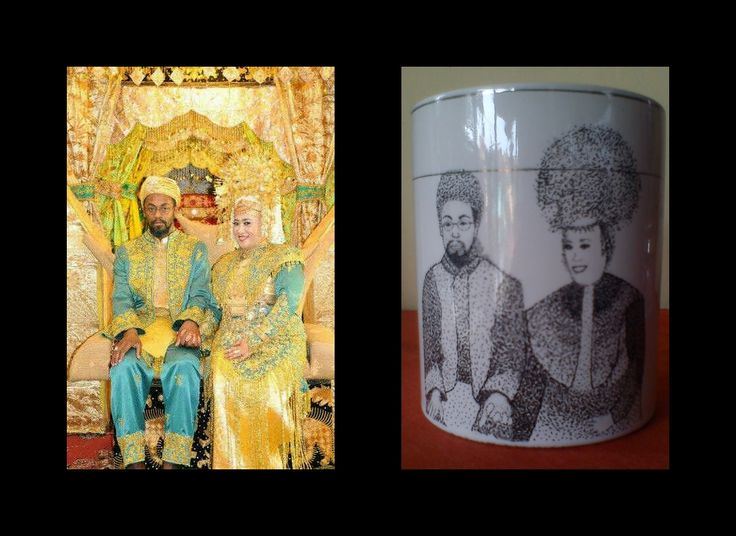 pointilis painting mug #go #to #Amerika :)