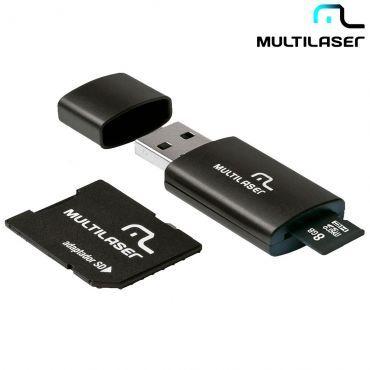 [Ricardo Eletro] Pendrive 3 em 1 Multilaser 8GB - Micro SD, Cartão SD e Pendrive R$ 12,90