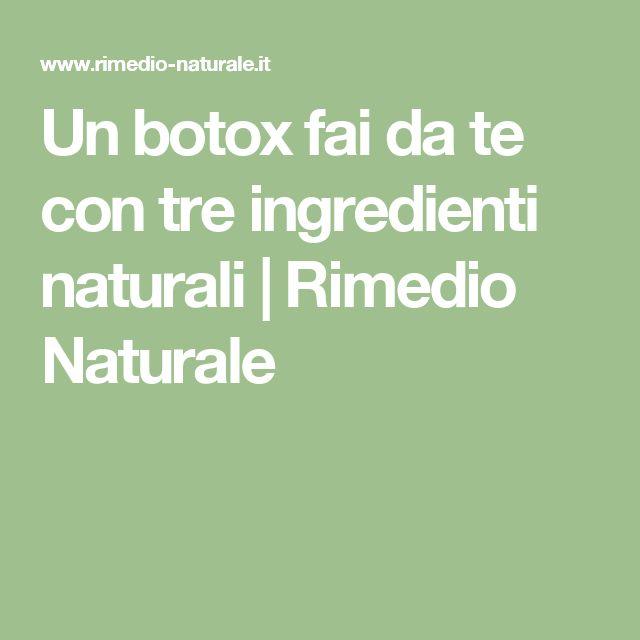 Un botox fai da te con tre ingredienti naturali | Rimedio Naturale