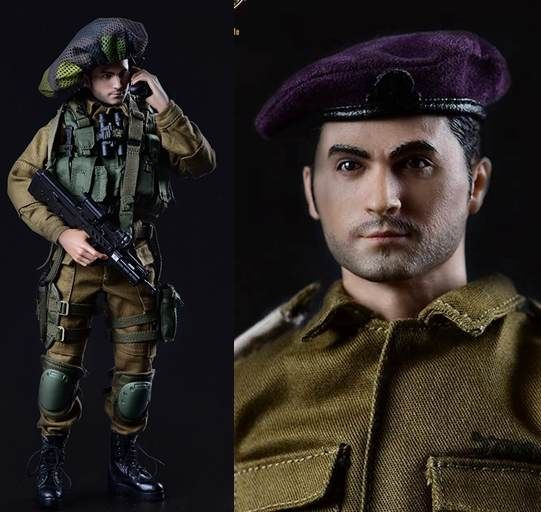 """178.00$  Buy now - http://ali0n7.worldwells.pw/go.php?t=32763296499 - """"1:6 scale Super flexible military figure Israeli IDF Givati Brigade in Gaza Strip 12"""""""" action figure doll Collectible Model toy"""" 178.00$"""