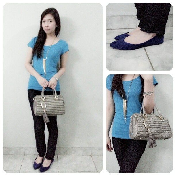 Simple casual blue