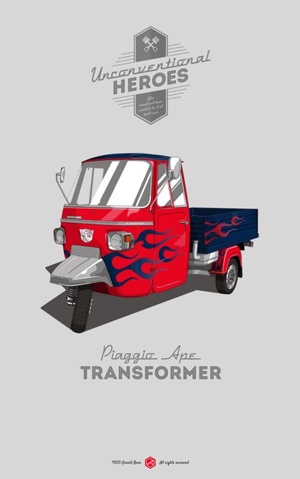 Unconventional Heroes | Illustrator: Gerald Bear #transformers #optimusprime
