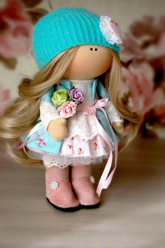 Baby doll Winter doll Christmas doll Handmade doll Green doll