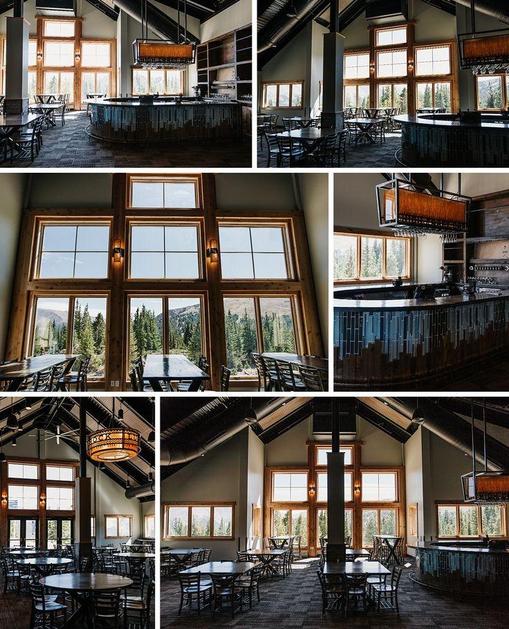 Lunch Rock Winter Park Resort Wedding Mountain Ski resort big windows reception Colorado