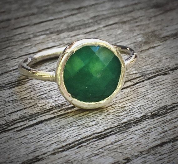 Emerald Ring Natural Emerald Ring Emerald gemstone by mossNstone