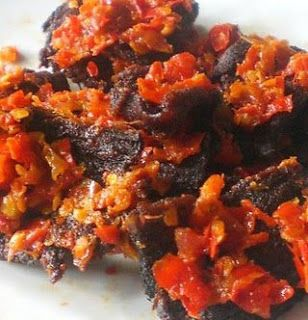 Fried Beef With Chili (Dendeng Balado)