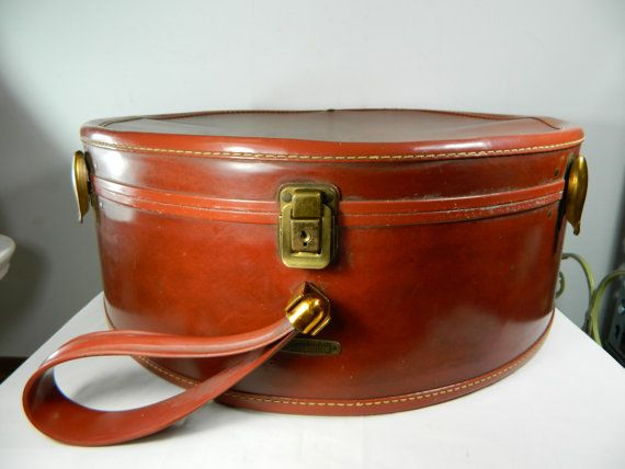 Vintage Samsonite Suitcase Round Suitcase Hat by 3sisterstreasures