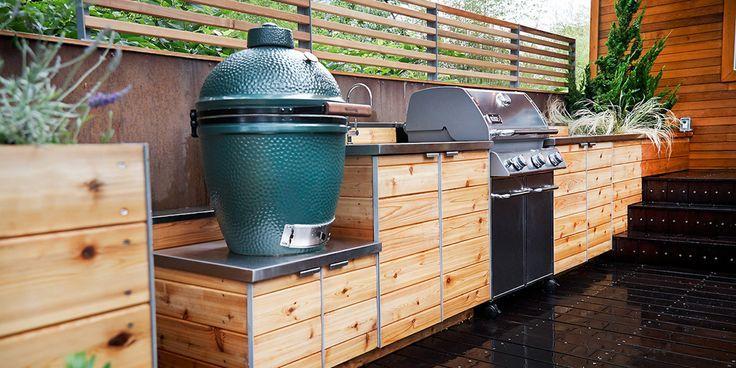 15 Outdoor Kitchen Designs, die Sie DIY helfen können   – aubenkuche.diyhomedesigner.com