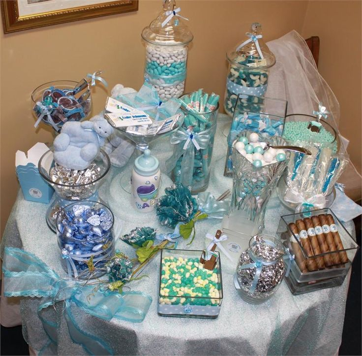 blue candy buffet baby shower candy blue baby showers for your party