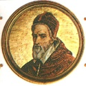 Gregory XIV  Papacy began5 December 1590  Papacy ended16 October 1591  PredecessorUrban VII  SuccessorInnocent IX  Orders  Consecration1564  bySt. Charles Borromeo  Created Cardinal12 December 1583  Personal details  Birth nameNiccolò Sfondrati  Born11 February 1535  Somma Lombardo, Duchy of Milan  Died16 October 1591 (aged56)  Rome, Papal State