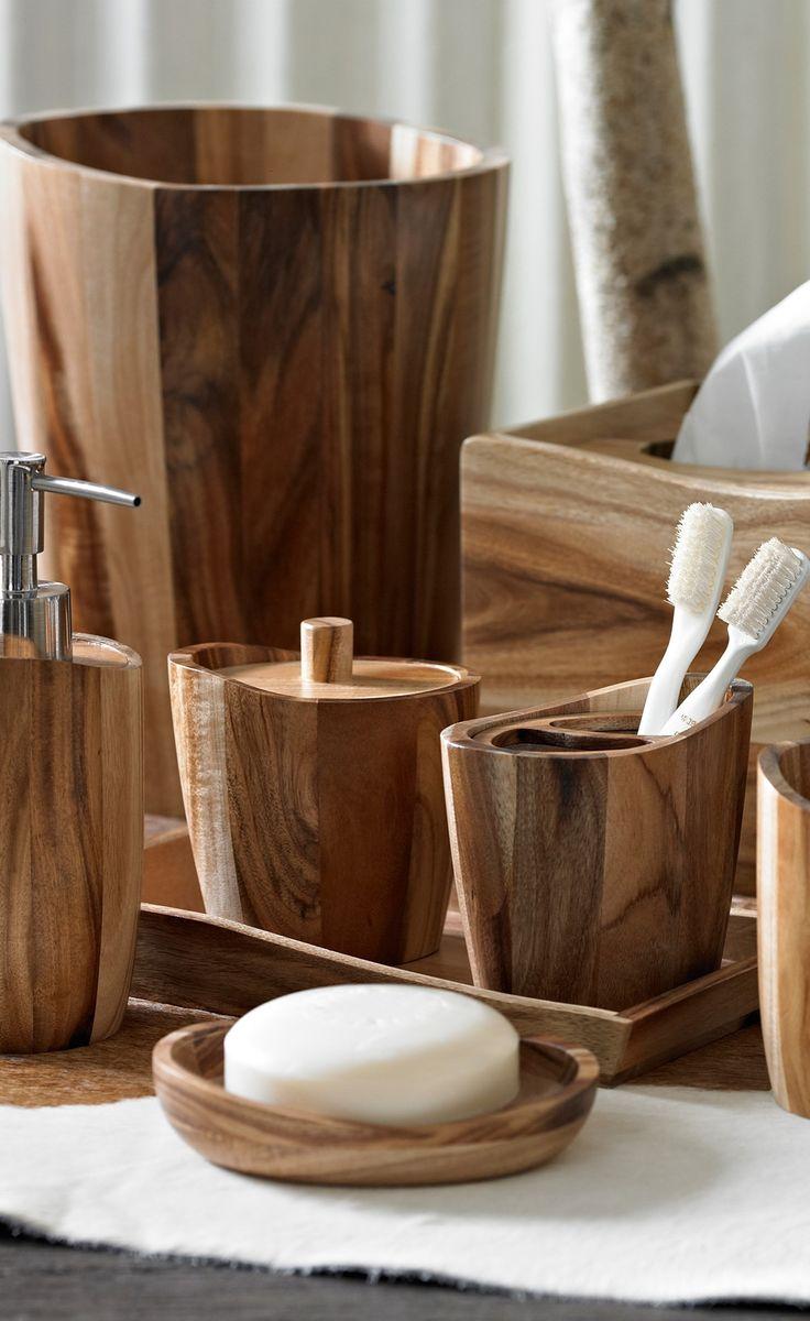 Wooden Bathroom Accessories Set 17 Best Images About Bath Essentials On Pinterest Cotton Towels