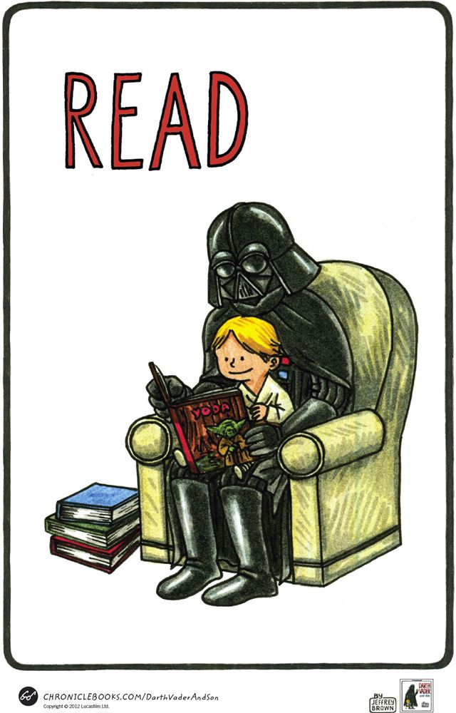Darth Vader and Son Poster by Jeffrey Brown