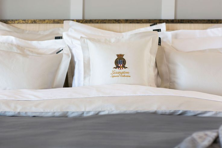 Luxurious sham with a soft and silky feel in sateen quality and with the Lexington Superior embroidery at the front. Made of Egyptian cotton in a quality referred to as the Superior Sateen.
