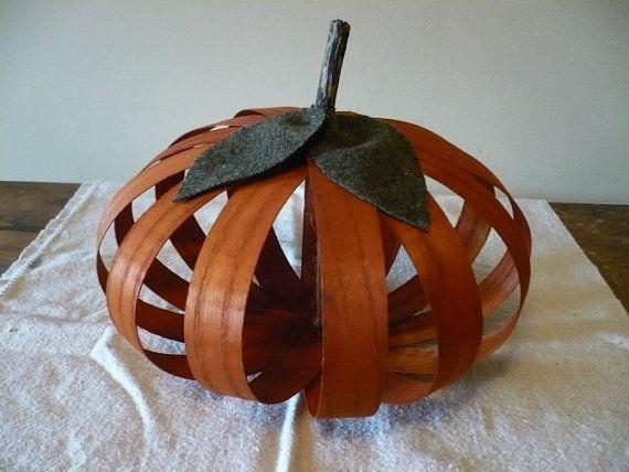 Primitive Pumpkin by 1803ohiofarmbaskets on Etsy: Pumpkin Ideas, Fall Decor, Baskets 1803, 1803 Ohio, Farms Baskets, Ohio Farms, Primitive Pumpkin, Primitive Decor, Pumpkin Baskets