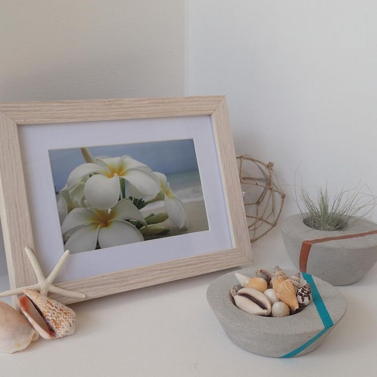 As we are currently road tripping to Melbourne, I am missing my warm coastal home... #costal #concrete #shells #home #sunshinecoast #beach #frangipani #decor #decorate #roadtrip #airplants