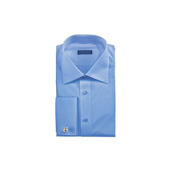 Stefano Ricci Basic French-Cuff Dress Shirt (753,370 KRW) ❤ liked on Polyvore featuring men's fashion, men's clothing, men's shirts, men's dress shirts, blue, mens button shirts, mens french cuff shirts, mens button down dress shirts, mens blue button down shirt and mens french cuff dress shirts