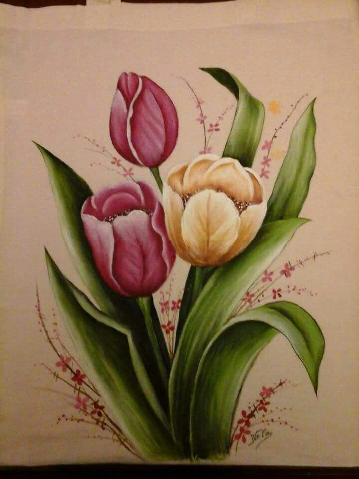 vintage flowers - Decorative Painting