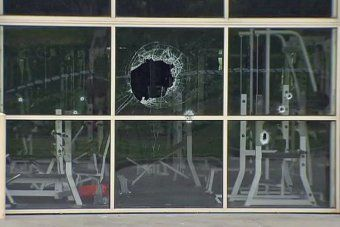 Police are investigating a drive-by shooting at a Hallam gym