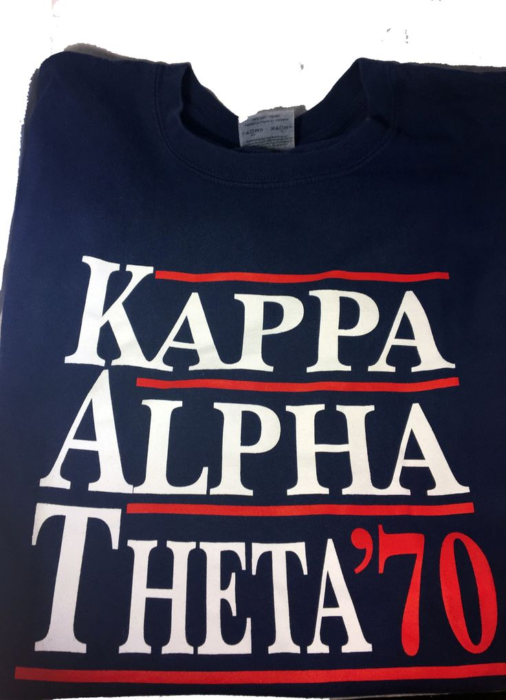 Kappa Alpha Theta Sorority Political Shirt - Brothers and Sisters' Greek Store