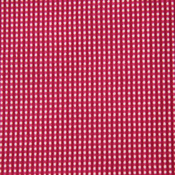 Malinová drobná kostička, metráž 100% bavlna