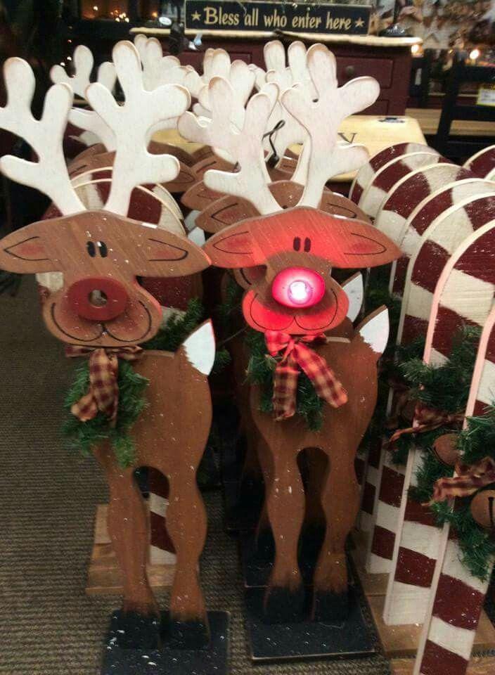 Reindeer Wood Craft Crafts Christmas Pinterest