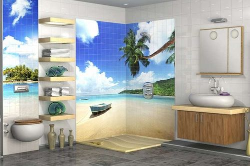 Banyo 3D Cam Mozaik  BNY  2791 -1