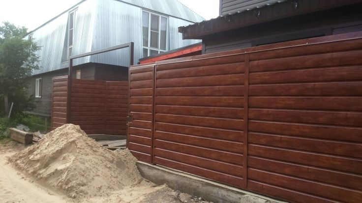 #shalewood забор из металлосайдинга