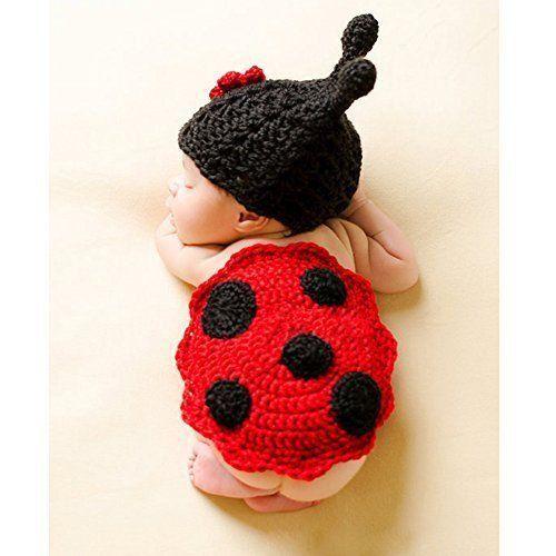 Pasgeboren gehaakte lieveheersbeestje Outfit