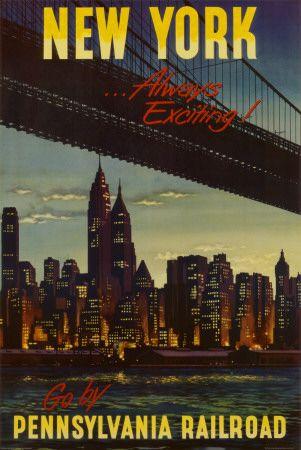 New York by Pennsylvania Railroad Affiche