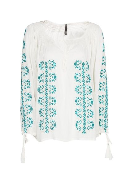 Mango - Cotton embroidered blouse