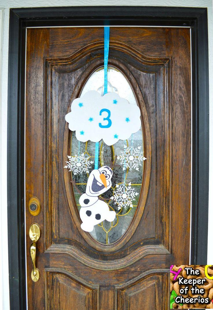 The Keeper of the Cheerios: Frozen Olaf Birthday Door Wreath