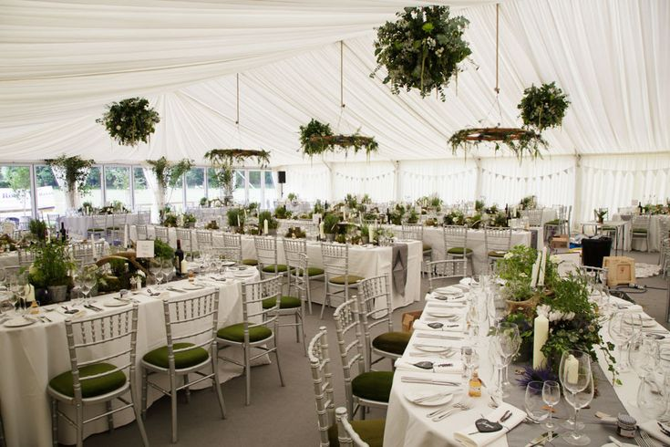 Rustic Marquee Reception at Home | Scotland Wedding | Thistles | Kilts | Shanna Melville Bespoke Gown | Grey Bridesmaid Dresses | Greenery & Wood Decor | Blue Sky Photography | http://www.rockmywedding.co.uk/annie-james/