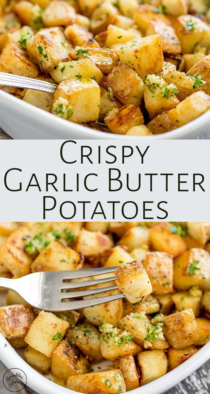 Crispy potatoes drizzled with rich garlic butter! These Brabant Potatoes are a N…