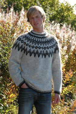 Knitting kit includes pattern and Lettlopi wool yarn, 17x50g. Design by Vedis Jonsdottir.