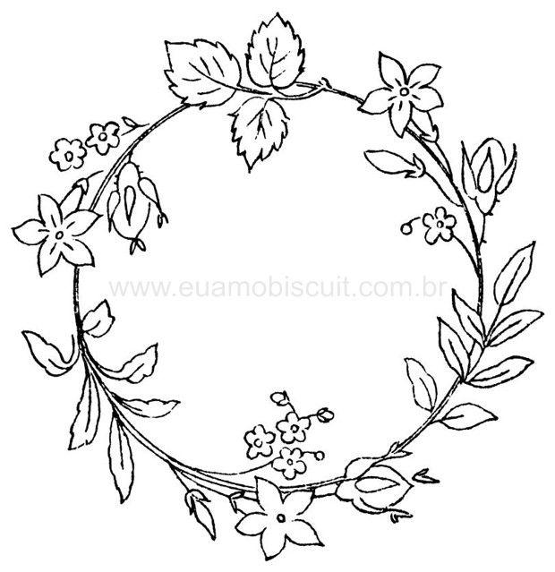 Embroidery Floral Wreath Pattern, part 7... ::ARTESANATO VIRTUAL - Tecnicas de Artesanato   Dicas para Artesanato   Passo a Passo::