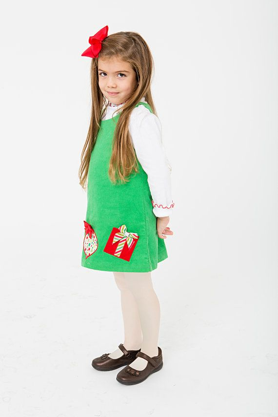 Girls Christmas Jumper Dress Set by ChildrensWarehouse on Etsy