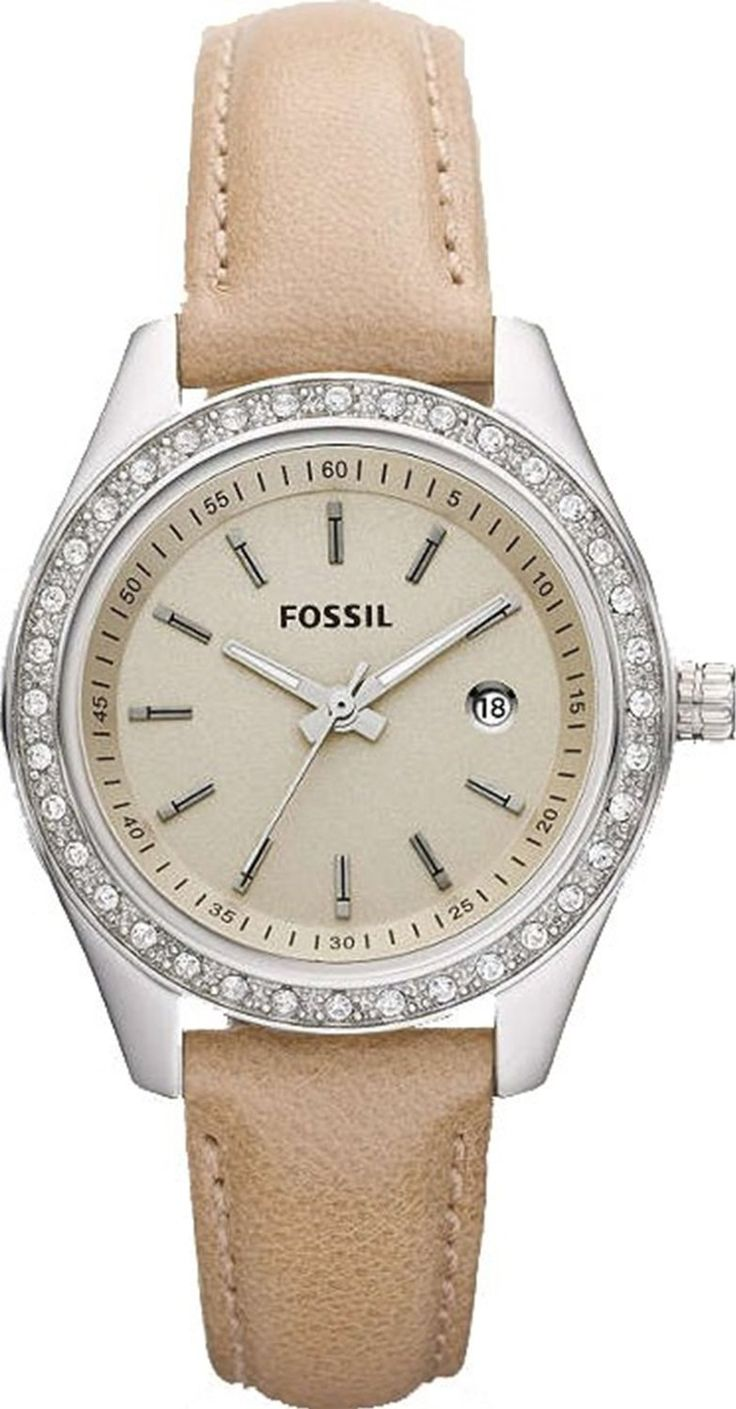#Fossil #Watch , Fossil Stella Mini Leather Watch - Sand