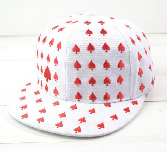 Unisex Poker snapback cap: SPADE/HEART