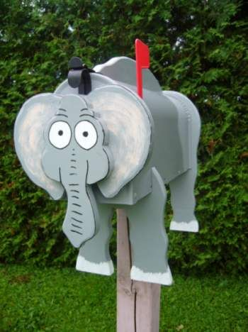 Wild Animal Mailboxes - Elephant Mailbox