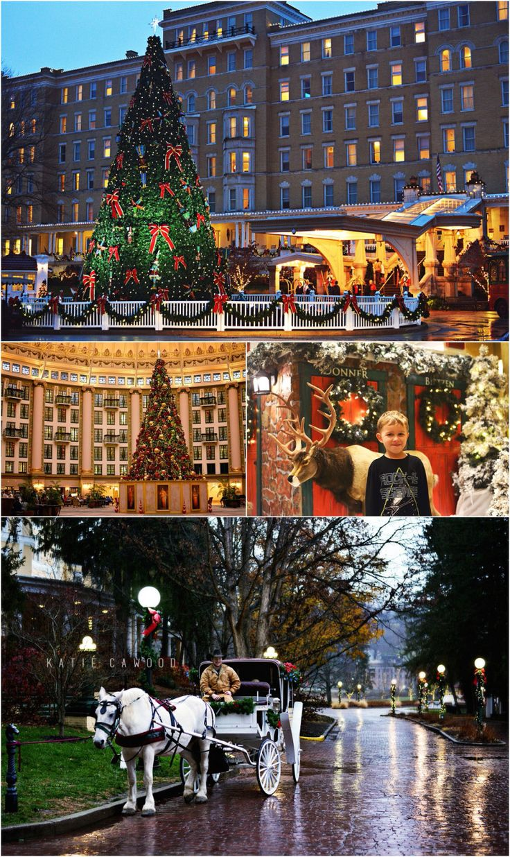 Christmastime in French Lick, Indiana. Click photo to read more about Christmas at French Lick Resort and West Baden Springs.