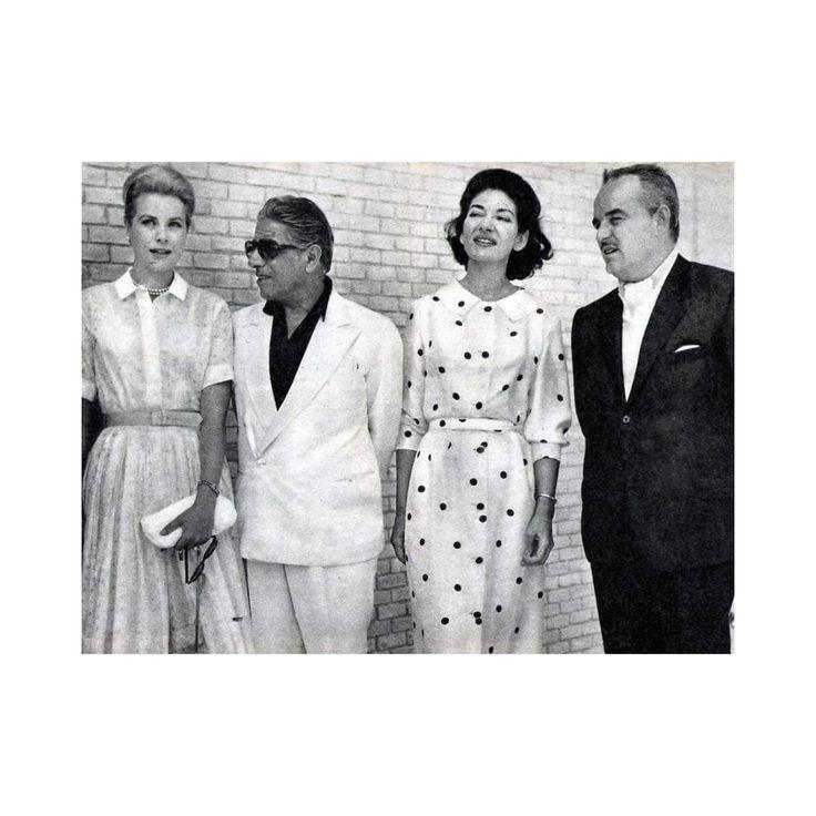 #Summer Grace Kelly Aristote Onassis Maria Callas and Rainier de Monaco 1961 in Spain.