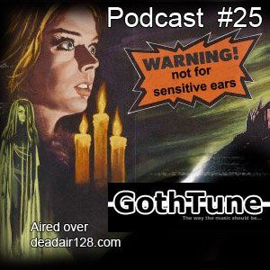Gothtune Podcast #25 includes new songs from band within the dark scen of rock. However, this time we also added some old songs but with fresh news. Enjoy the darkness before the sun makes you burn!   http://www.mixcloud.com/gothtune/gothtune-podcast-25-2014/