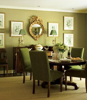 Traditional Moss Green Dining Room Get The Look With