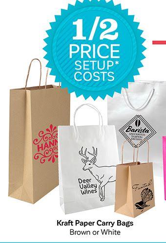 Brown or white kraft paper Minimum order 3000 - 6-8 week delivery