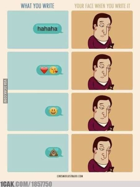 your face while texting