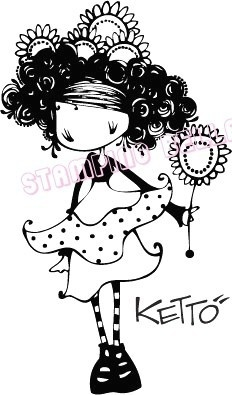 Suzette Ketto Unmounted Rubber Stamp