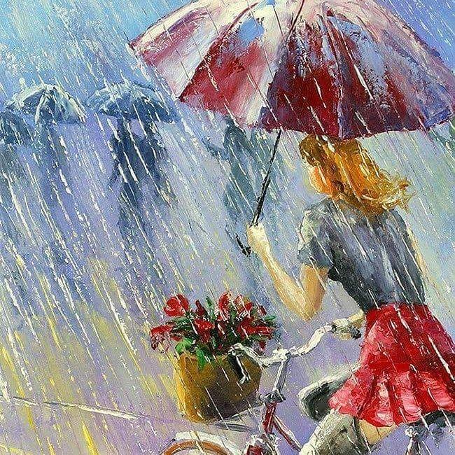 Открытки днем, открытки с дождиком летним